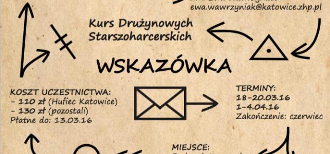 Kurs drużynowych drużyn starszoharcerskich WSKAZÓWSKA